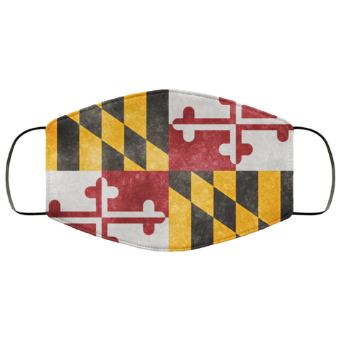 Maryland Grunge Flag	fifth Face Mask