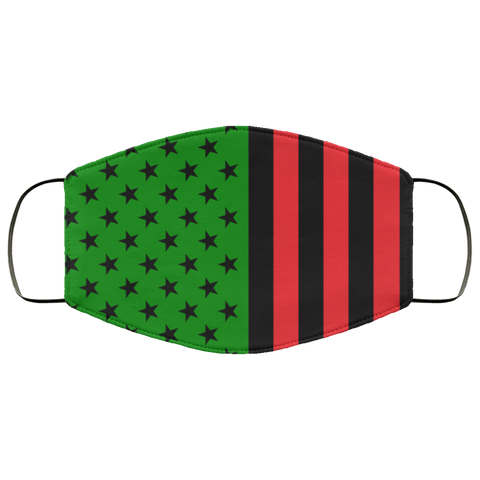 African American flag Fifth Face Mask