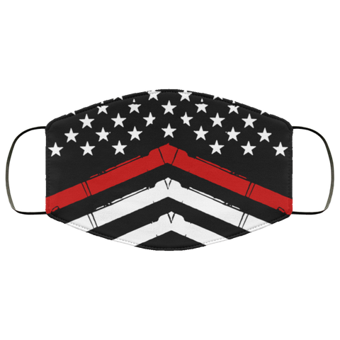 thin red line Fourth Face Mask