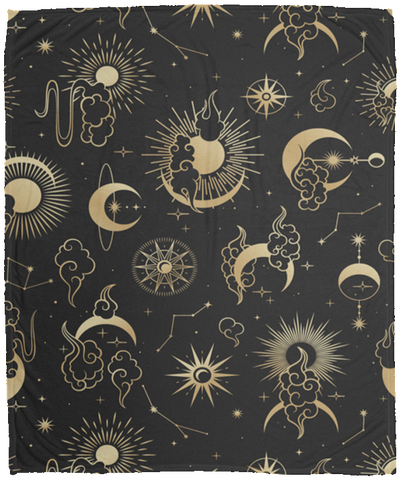 Sun moon Cozy Plush Fleece Blanket - 50x60