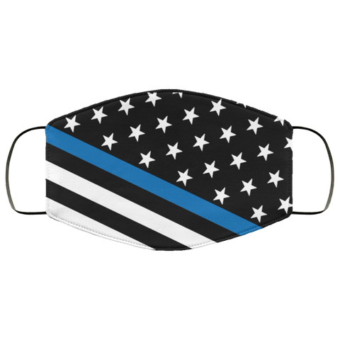 Thin blue line face mask face mask