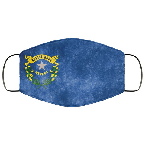 Nevada Grunge Flag fifth Face Mask
