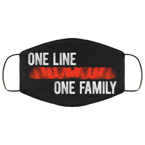 One line one family red Face Mask