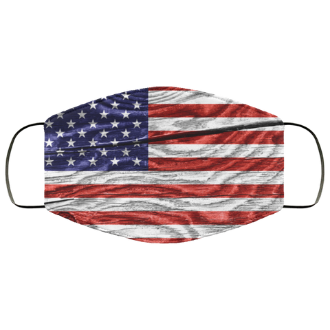 Cracked Wood Flag - USA Fifth Face Mask