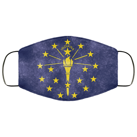 Indiana Grunge Flag Fifth Face Mask
