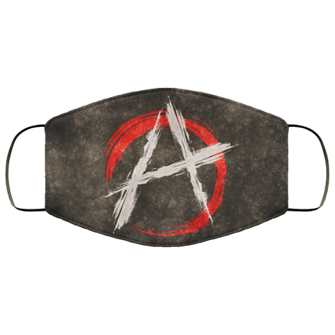 Anarchy Grunge Flag Fifth Face Mask
