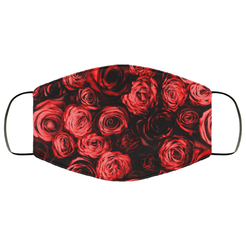 Red rosses face mask