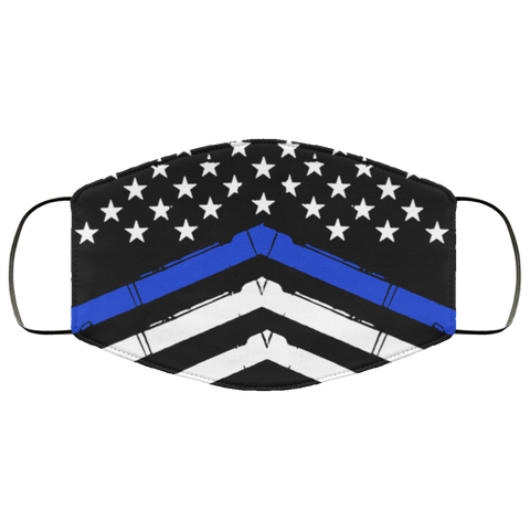 thin blue line Fourth Face Mask