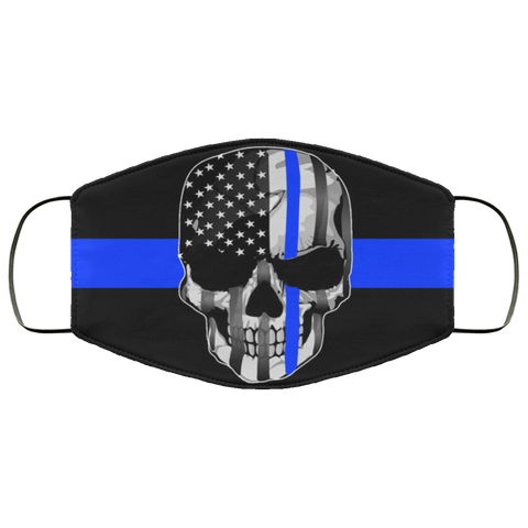 thin blue line skulls Second batch Face Mask