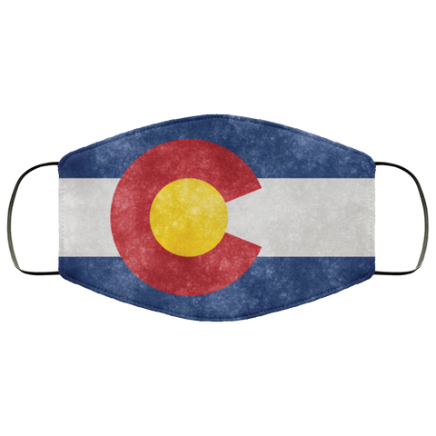 Colorado Grunge Flag Fifth Face Mask