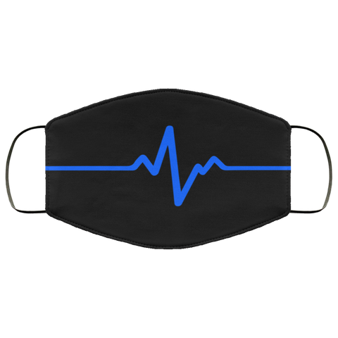 Thin Line heartbeat  Face Mask