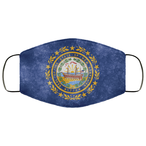 New Hampshire Grunge Flag fifth Face Mask