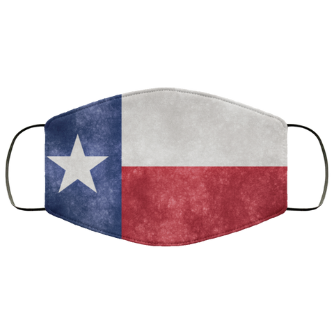 Texas Grunge Flag fifth Face Mask