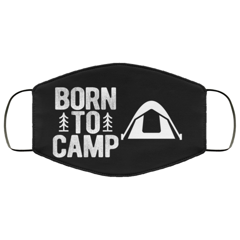 Born to camp  face mask