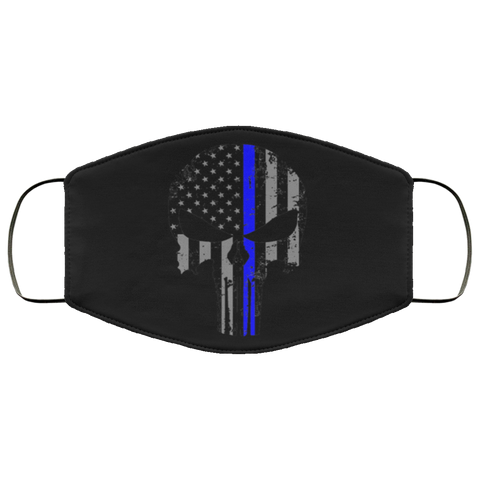 thin blue line skull Second batch Face Mask