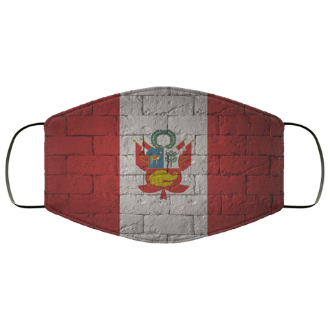peru flag fifth Face Mask
