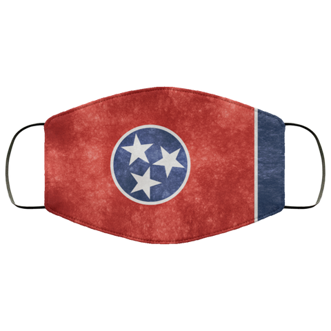 Tennessee Grunge Flag fifth Face Mask