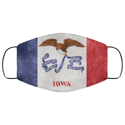 Iowa Grunge Flag	Fifth Face Mask