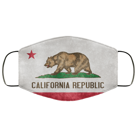 California Grunge Flag	Fifth Face Mask
