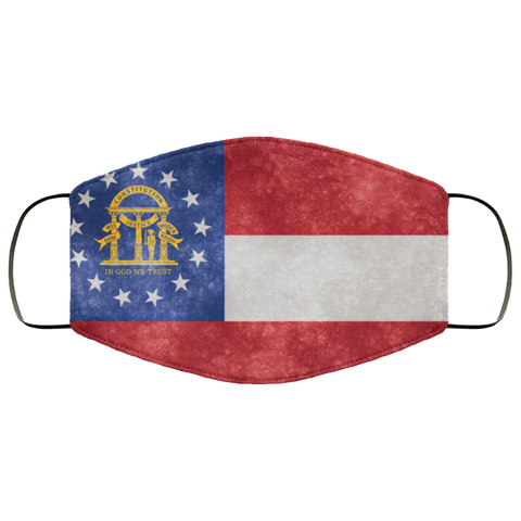 Georgia Grunge Flag Fifth Face Mask