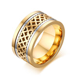 Lovely Hollow Hearts Wide Spinner Ring