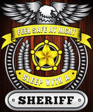 Christmas Special - Sheriff - Feel Safe at Night, Sleep With a Sheriff Throw Blanket