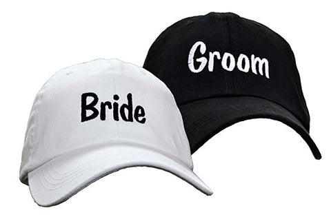 Bride and Groom Set Embroidered Wedding Caps Hat