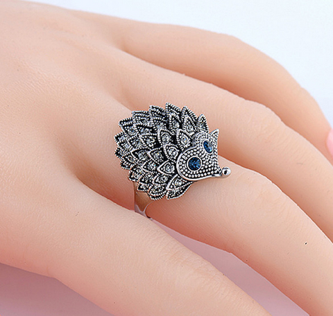 Unique and Gorgeous Hedgehog Ring