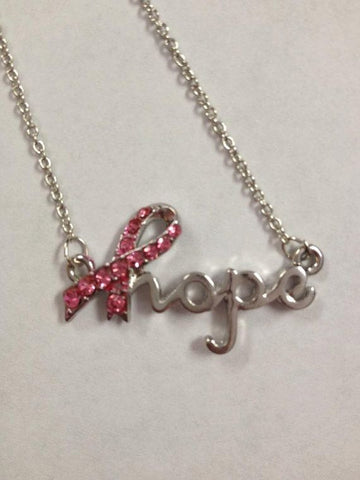 Hope Breast Cancer Awareness Necklace