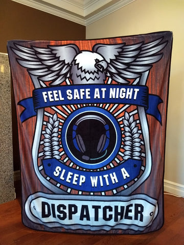 Christmas Special - Feel Safe at Night, Sleep With a Dispatcher Throw Blanket