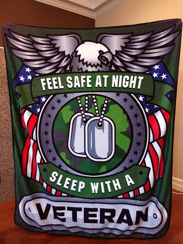 Fall Special - Veteran - Feel Safe at Night, Sleep With a Veteran Throw Blanket