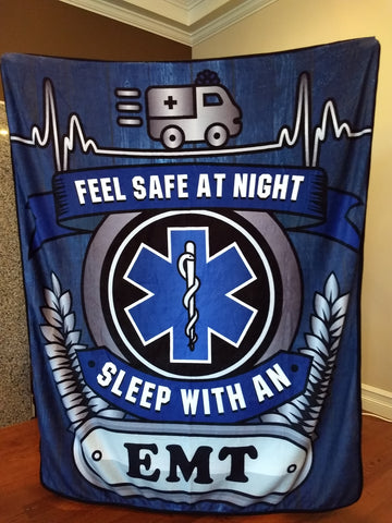 EMT - Feel Safe at Night, Sleep With an EMT Throw Blanket