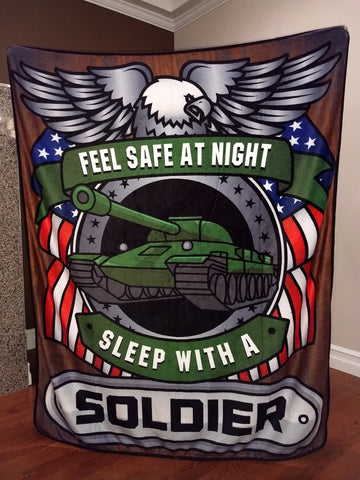 Christmas Special - Soldier - Feel Safe at Night, Sleep With a Soldier Throw Blanket