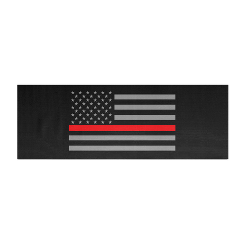 Thin Red Line Flag Yoga Mat