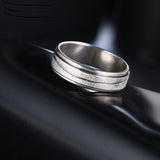 Fashionable Silver Spinner Ring