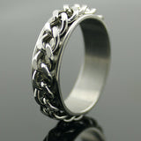Chain Style Stainless Spinner Ring