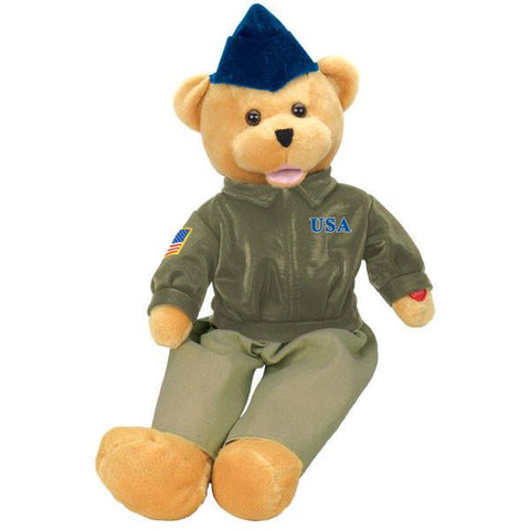 "19"" United States Air Force bear - Sings ""The U.S. Air Force"", aka ""Wild Blue Yonder"".℗"