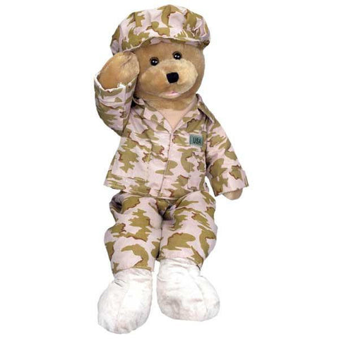 "Military Bear - Sings and Sways to the song, ""God Bless the USA"""
