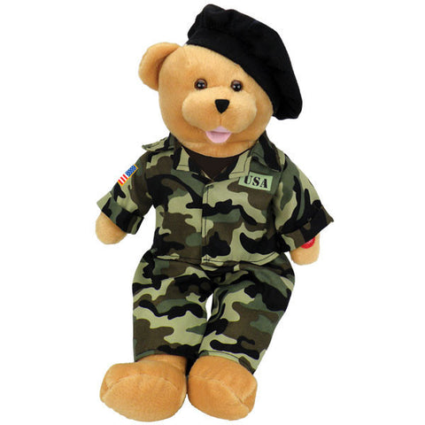 "United States Army bear - Sings ""The Army Goes Rolling Along"".℗"