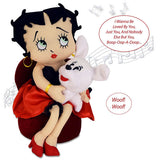 "13"" Betty Boop™ & Pudgy. Betty sings, ""I Wanna Be Loved By You""℗"
