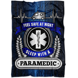 Christmas Special - Paramedic - Feel Safe At Night, Sleep With A Paramedic Throw Blanket
