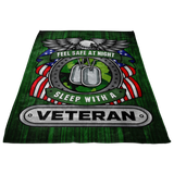 Christmas Special - Veteran - Feel Safe at Night, Sleep With a Veteran Throw Blanket