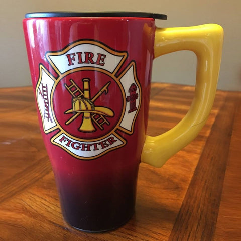 Firefighter Ceramic Travel Mug