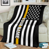 thin gold lines- blanket
