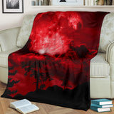 red moon- blanket