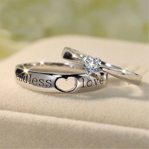 Endless Love Heart Couples Rings