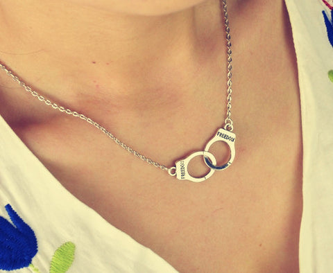 Beautiful Handcuff Necklace