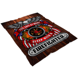 Feel Safe At Night Sleep With A Firefighter Throw Blanket