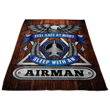 Christmas Special - Airman - Feel Safe at Night, Sleep With an Airman Throw Blanket
