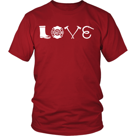 Firefighter Love Statement Shirt